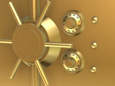 Goldene Tresortür